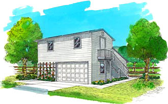 2 Story House Plans w/garage from DrummondHousePlans.com