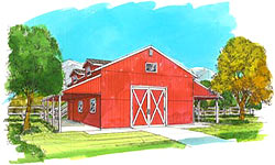 Large ranch barn plans