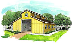 Conventional frame barn plans