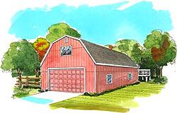 Gambrel Amp Dutch Barn Plans Livestock Barn Designs