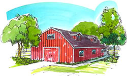 40' Gambrel/Dutch barn plans with inside stairs