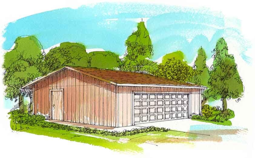 Two Car Garage | BGS Plan 208