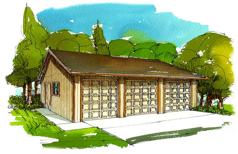 2 Car Garage Designs on How to build a Two Car Garage Plan