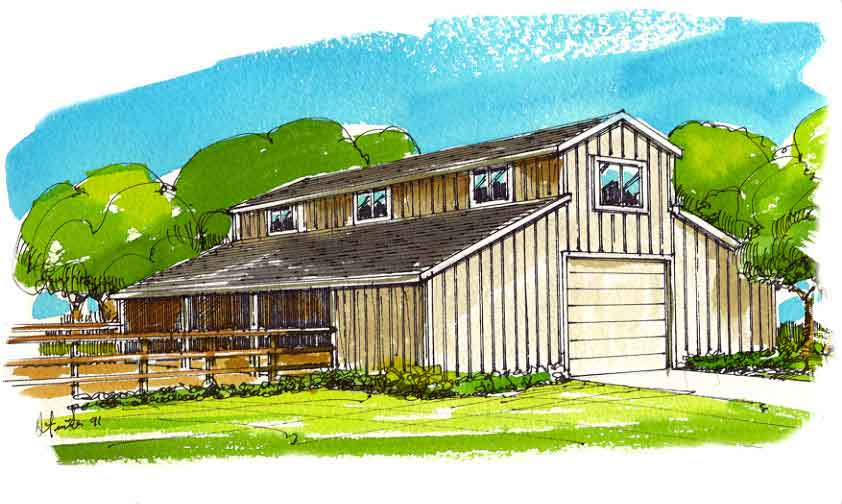 Barn garage shop plans engineered with complete for 30x36 garage plans
