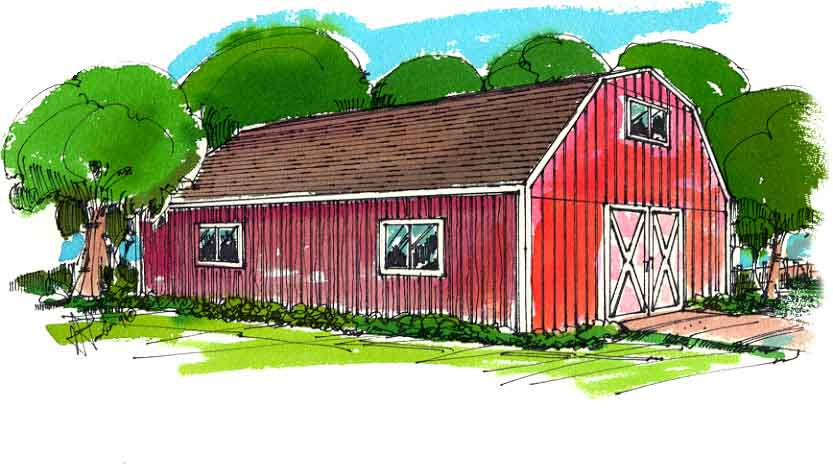 Gambrel Dutch Style Barn