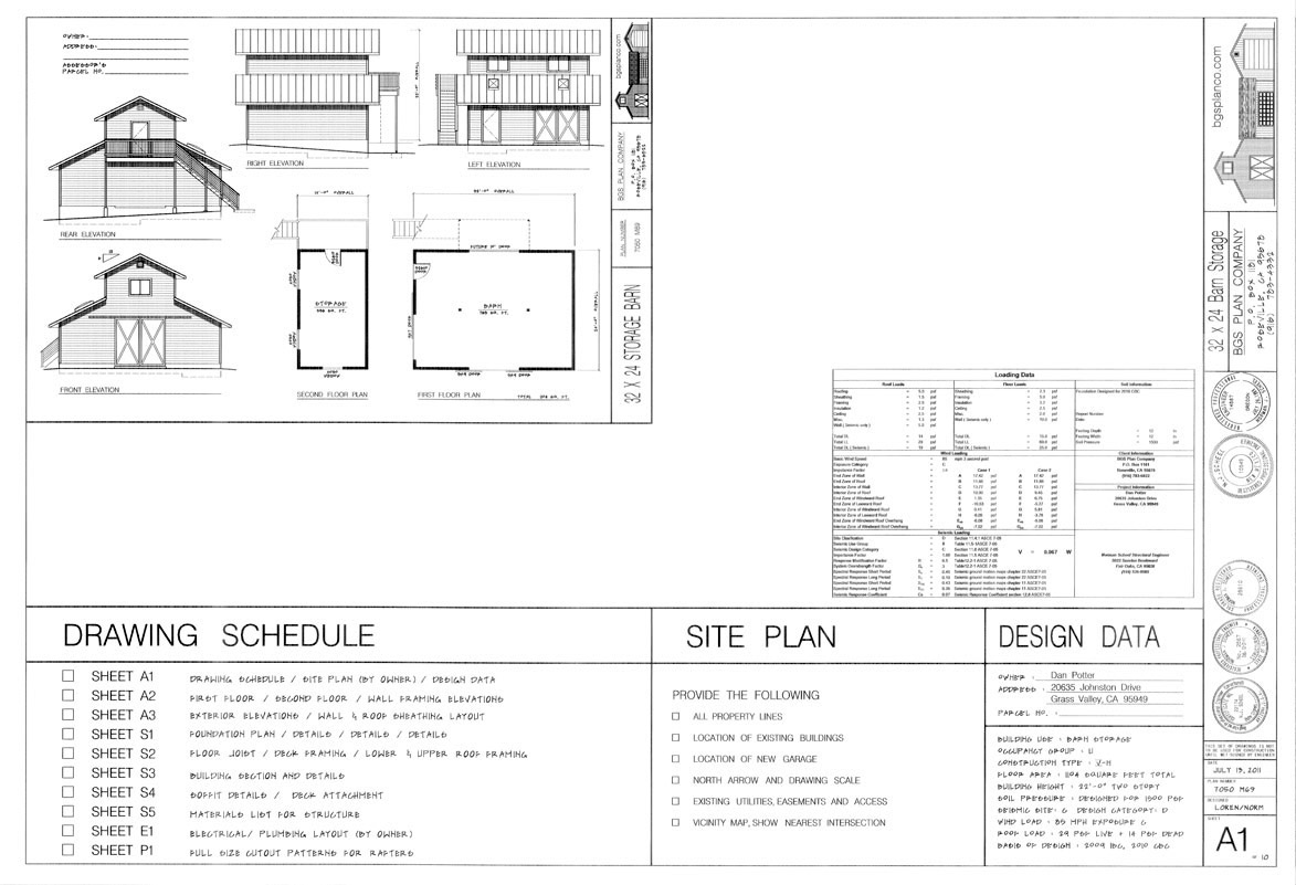 BGS Two Story Plan Example