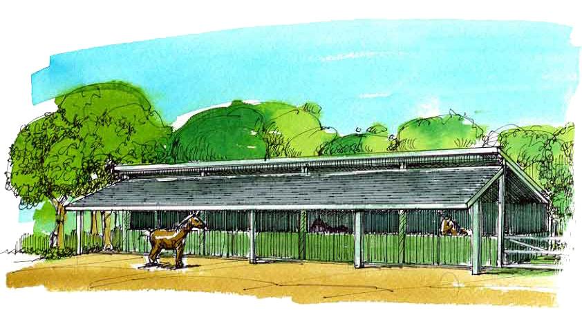 Agricultural Horse Barn
