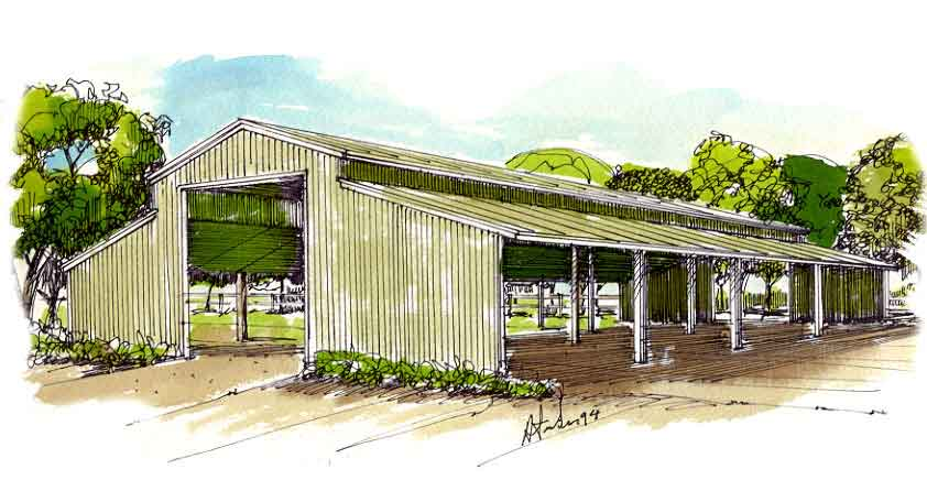 Agricultural Livestock Barn