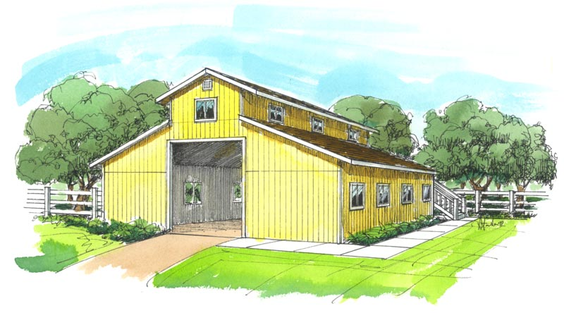 Two Story Garage Plans Barn Garage Storage