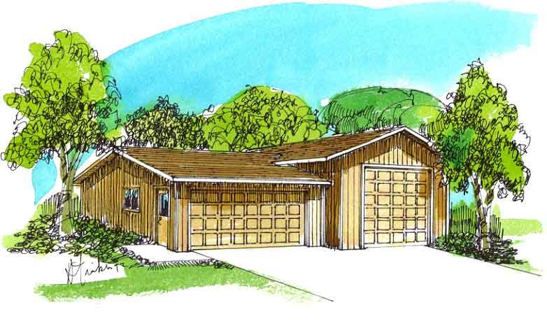 BGS Plans Three Car Garages with RV Storage