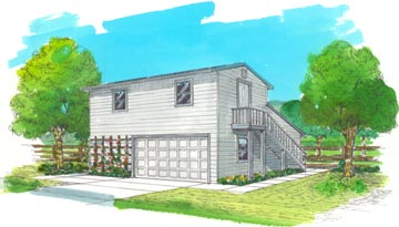 Two story garage plans barn garage storage for Two story storage building plans