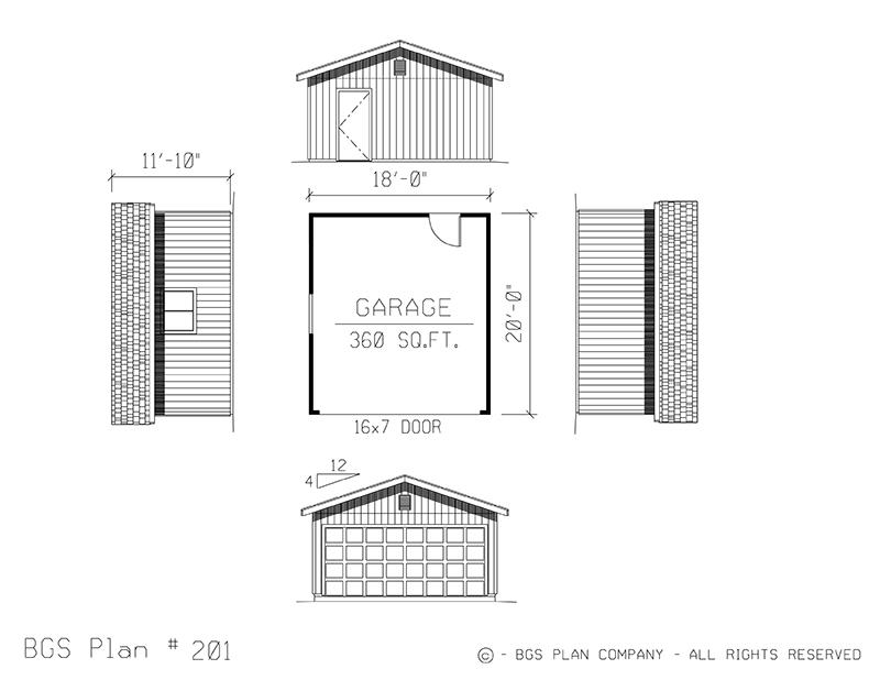 Plan # 201 Floor Plan