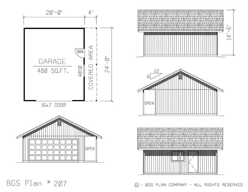 Two Car Garage | BGS Plan 207