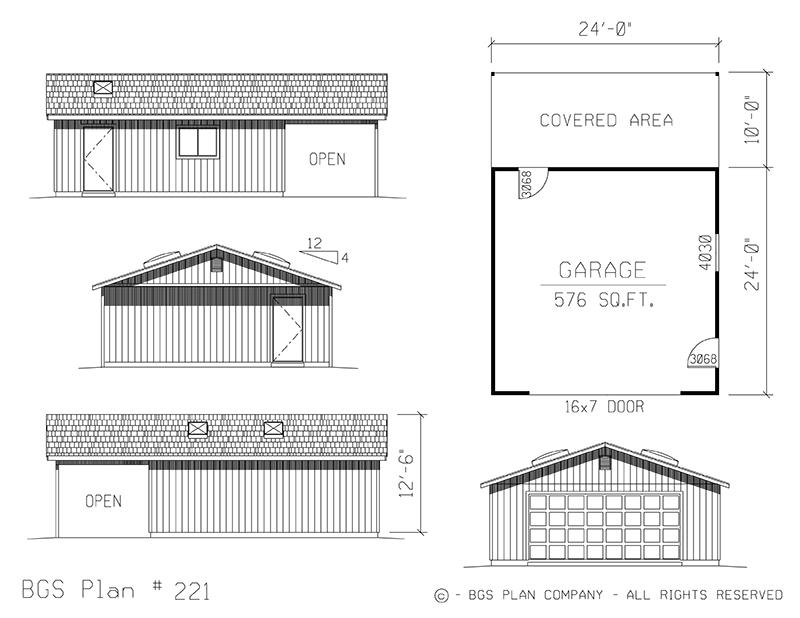 Plan # 221 Floor Plan