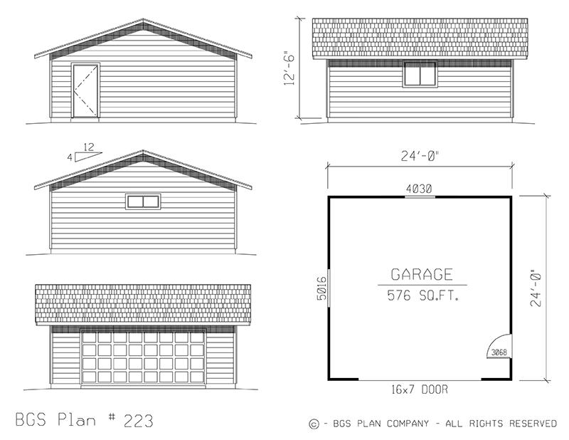 Two Car Garage | BGS Plan 223