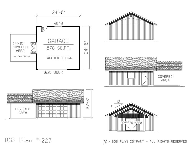 Plan # 227 Floor Plan