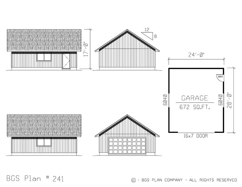 Two Car Garage | BGS Plan 241