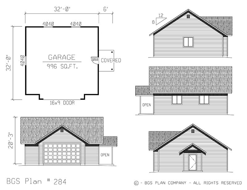 Plan # 284 Floor Plan