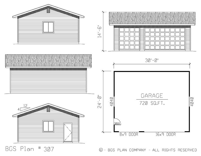 Three Car Garage | BGS Plan 307
