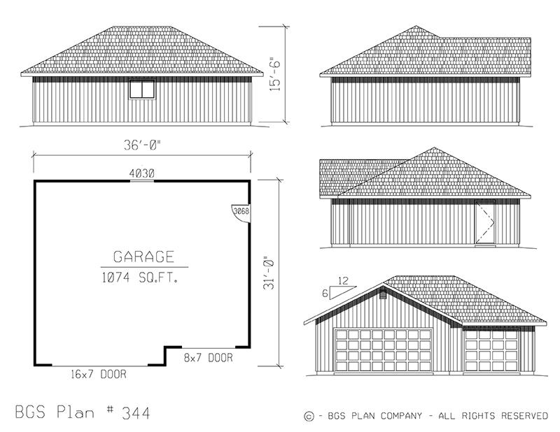 Plan # 344 Floor Plan