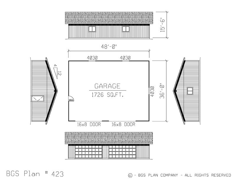 Plan # 423 Floor Plan