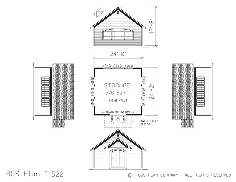 Plan # 522 Floor Plan
