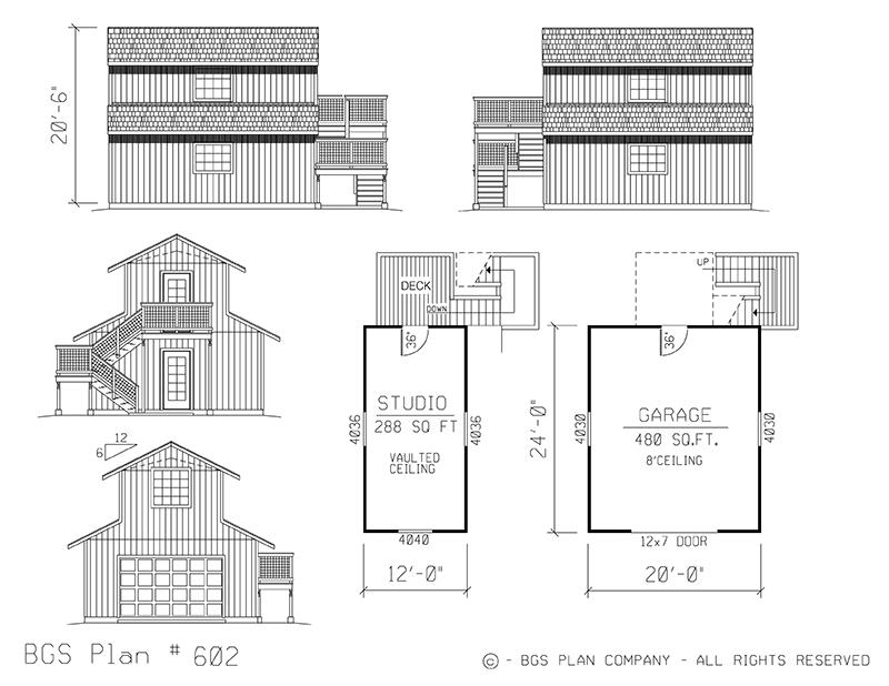 Plan # 602 Floor Plan