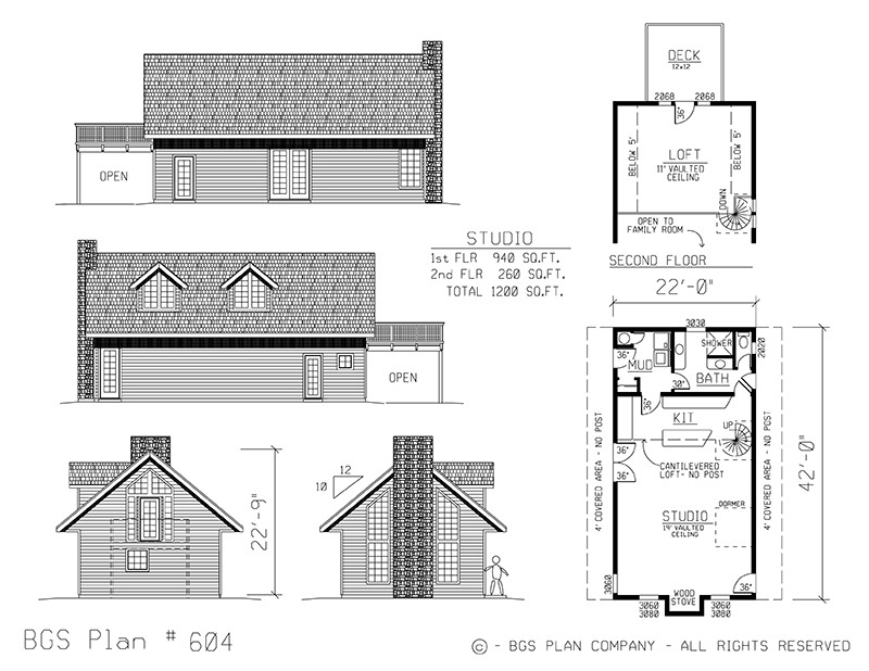 Plan # 604 Floor Plan