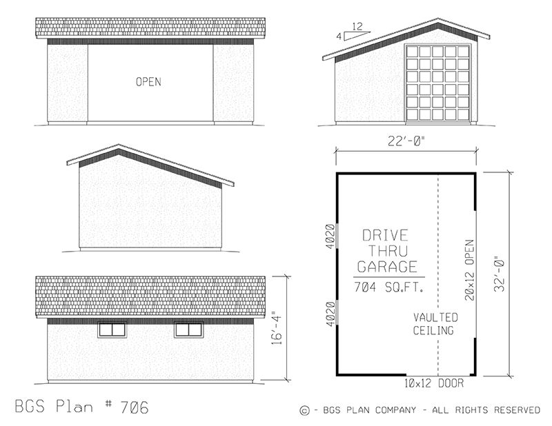 Plan # 706 Floor Plan