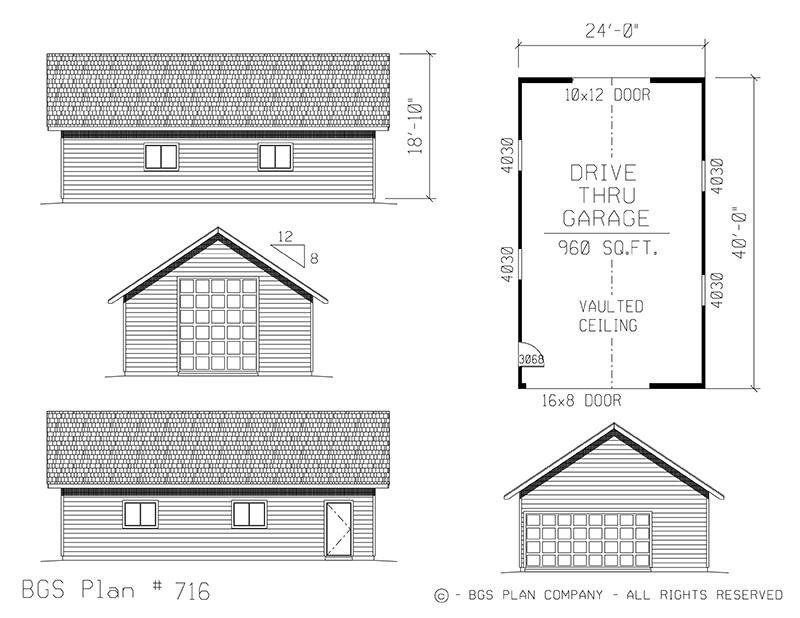 Plan # 716 Floor Plan