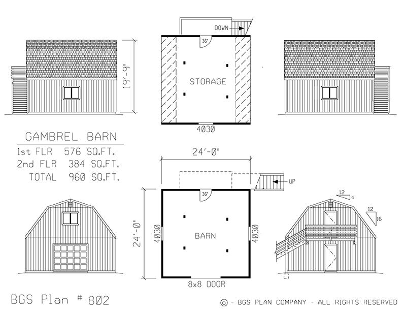 Plan # 802 Floor Plan
