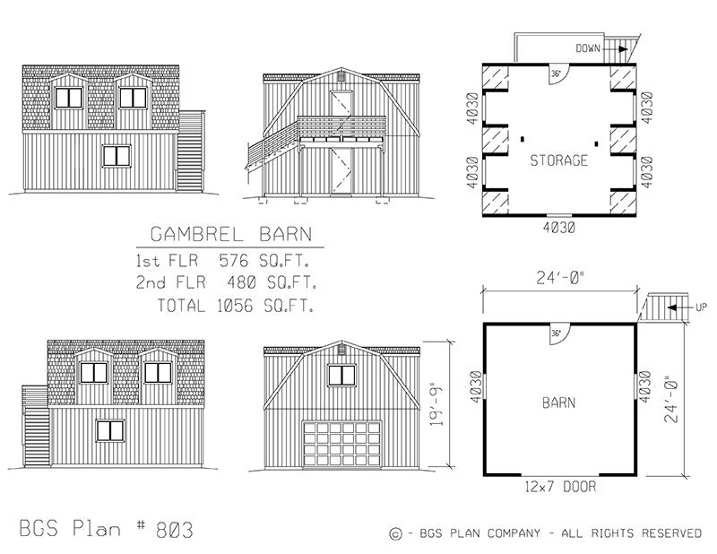 Plan # 803 Floor Plan