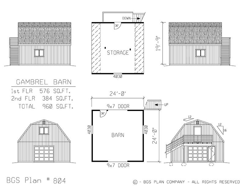 Plan # 804 Floor Plan