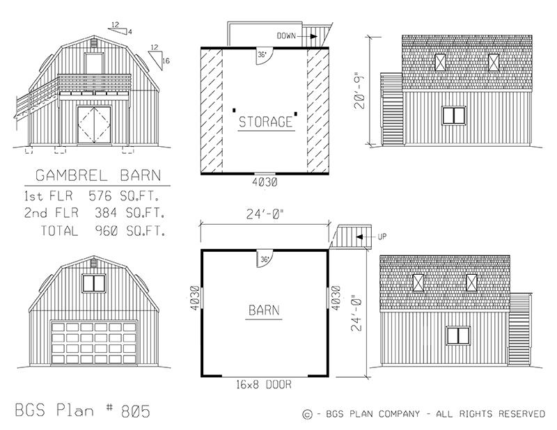 Plan # 805 Floor Plan