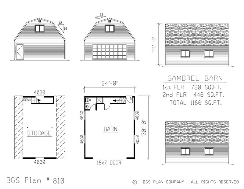 Plan # 810 Floor Plan