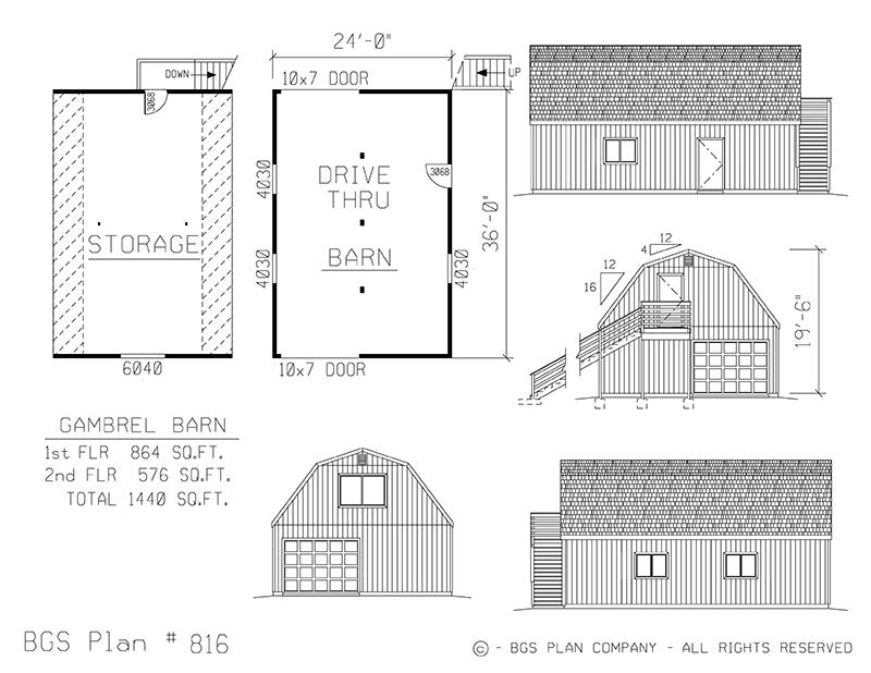 Plan # 816 Floor Plan