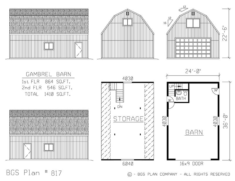 Plan # 817 Floor Plan