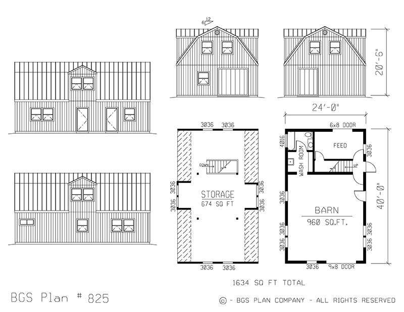 Plan # 825 Floor Plan