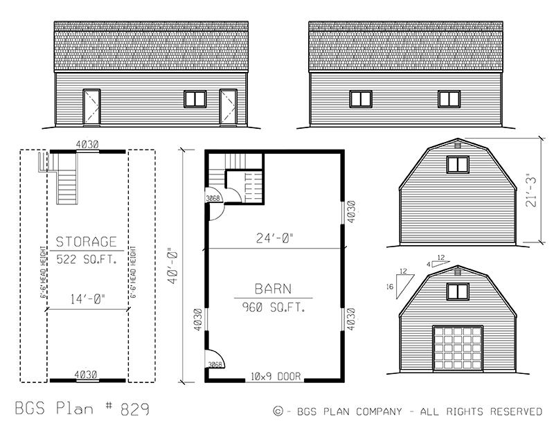 Dutch Barns | BGS Plan 829
