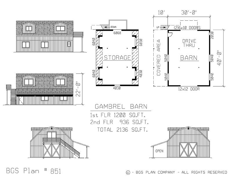 Plan # 851 Floor Plan