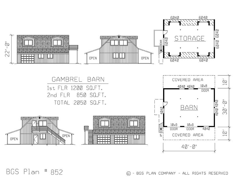 Plan # 852 Floor Plan