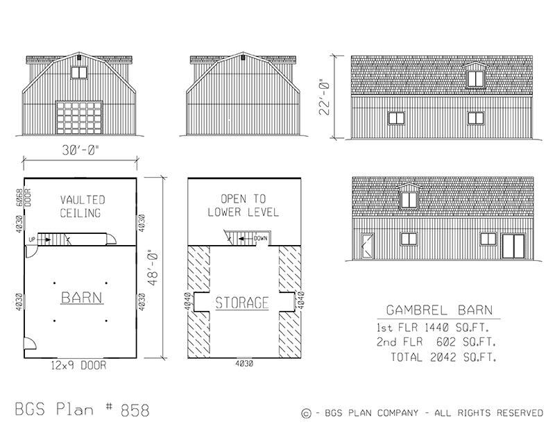 Plan # 858 Floor Plan