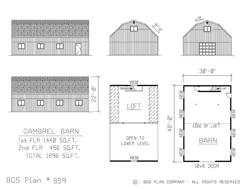 Plan # 859 Floor Plan