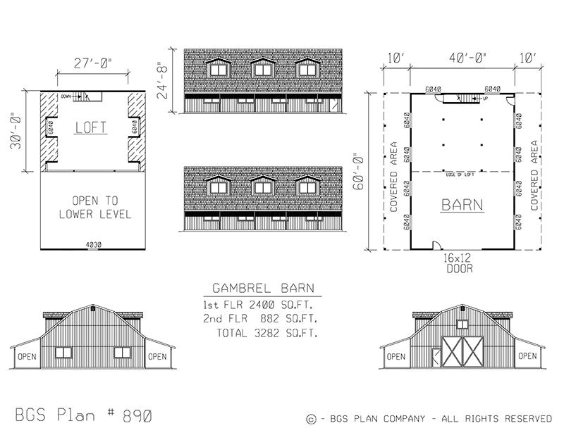 Plan # 890 Floor Plan