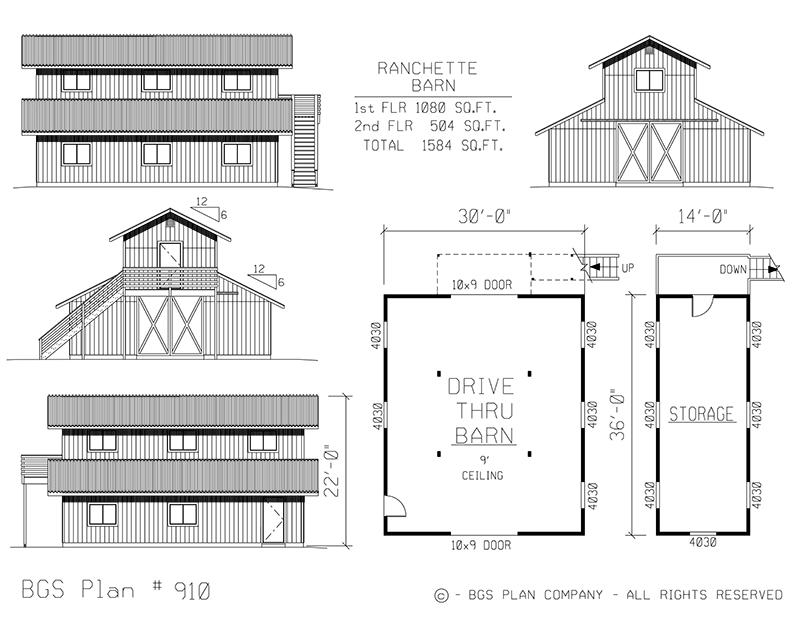 Plan # 910 Floor Plan