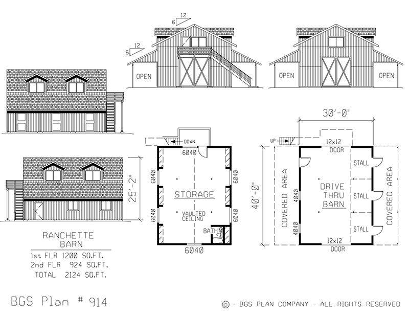 Plan # 914 Floor Plan