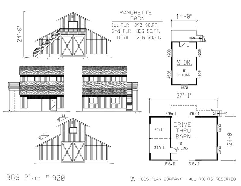 Plan # 920 Floor Plan