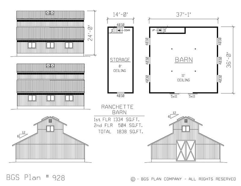 Plan # 928 Floor Plan