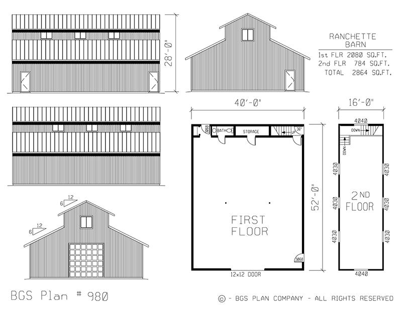 Plan # 980 Floor Plan