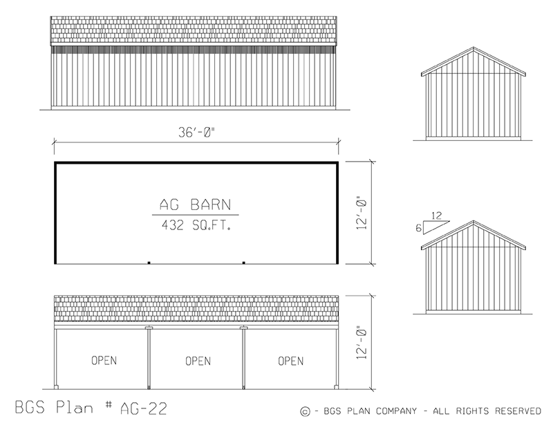 Plan # AG-22 Floor Plan
